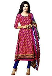 Saad Creations Women's Cotton Unstitched Dress Material_BLR1306_Multicolored_Freesize