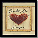 Families Are Forever Country Heart Sign Framed Art Print Picture Wall Decor