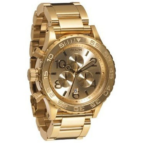 Nixon Men's A037502-00 Gold Stainless-Steel Quartz Watch with Gold Dial