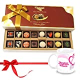 Valentine Chocholik Belgium Chocolates - Cheerful Treat Of Mix Assorted Chocolates With Love Mug