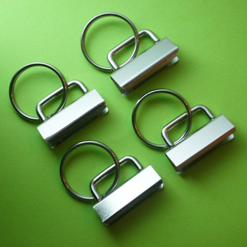 25 Sets - Key Fob Hardware  Split Ring - 1.25