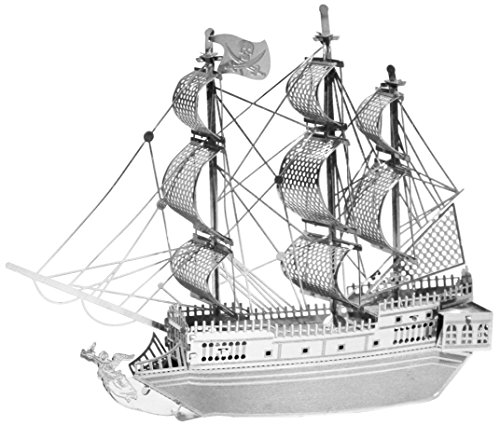 MetalEarth 3D Metal Model - Black Pearl Pirate Ship - 1