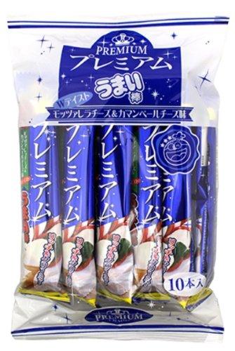 プレミアムうまい棒 モッツァレラチーズ味&カマンベールチーズ味 (10本入×10袋)