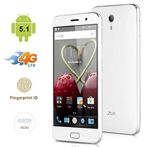 Unbekannt ZUK Z1 Smartphone (13,97cm (5,5 Zoll) Full HD IPS, 64 GB, Android 5.1) weiß