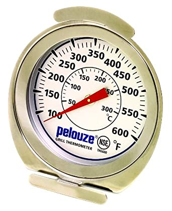 Rubbermaid Commercial FGTHG600 Pelouze Stainless Steel Grill Monitoring Thermometer