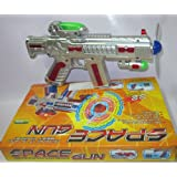 AndAlso Space Gun Toy With LED Matrix Flashing Rotating Blades For Kids Children Birthday Gift Fun Party (Color...