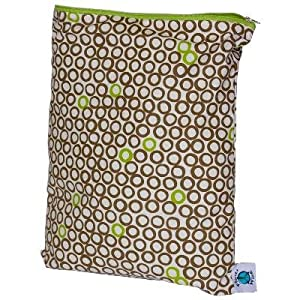 Planet Wise Diaper Wet Bag - Medium (Lime Cocoa Bean)