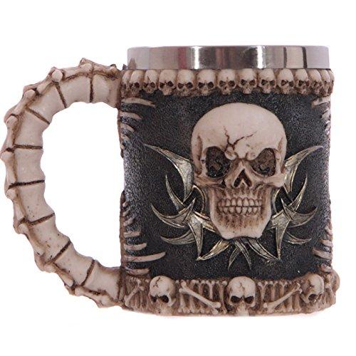 CNMKLM Crâne Tribal gothique Tankard tasse à café tasse Creepy , 301-400ml