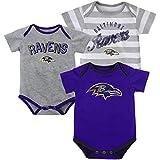 Infant Baltimore Ravens Field Goal Bodysuit Set of 3