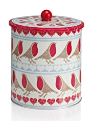 Robin Repeat Biscuit Tin