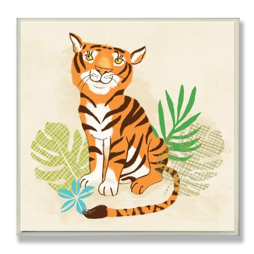The Kids Room by Stupell Happy Tiger Square Wall Plaque