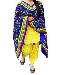 SiyaRam Yellow Party Wear Patiyala Salwar Kameez-(code-ebsfsk28916)