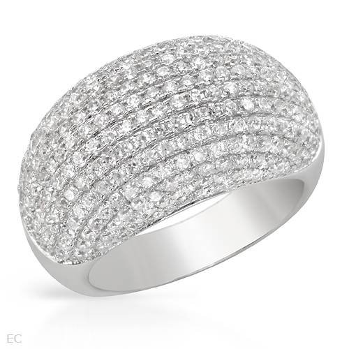 Sterling Silver 7.04 CTW Cubic Zirconia Ladies Ring. Ring Size 7. Total Item weight 9.8 g.