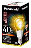 パナソニック LED電球 E26口金 電球40W形相当 電球色相当(6.4W) 一般電球・クリア電球タイプ 密閉形器具対応 LDA6LC