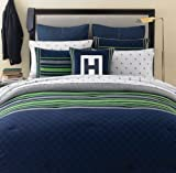 Tommy Hilfiger Rugby Collection Navy Comforter Set, Full/Queen
