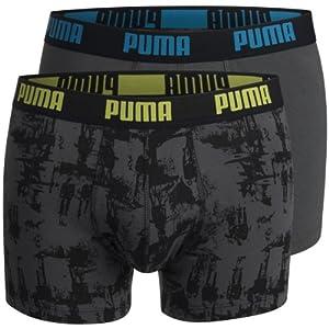 Puma Go Cycling Pack of 2 Men's Boxer Shorts Black dark shadow Size:010