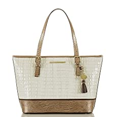 Medium Asher Tote<br>Marshmallow La Scala Tri-Texture
