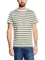 Cortefiel Camiseta Manga Corta (Crudo / Verde)