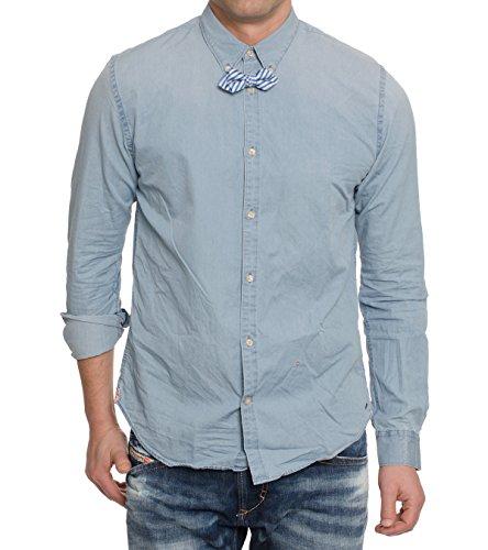 Scotch & Soda -  Camicia Casual  - Uomo blu XL