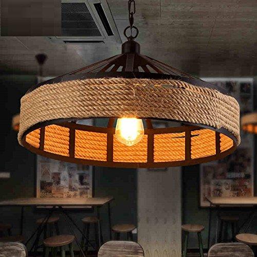 Retro lampadario ristorante creativo personalitš€ American Cafe Bar Nordic Ferro corda lampadario