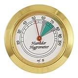 Medium Round Analog Hygrometer Humidity Gauge Humidor