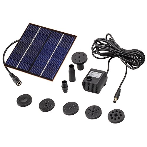 baytter solar teichpumpe 1 2w wasserspiel pumpe f r gartenteich oder springbrunnen max. Black Bedroom Furniture Sets. Home Design Ideas