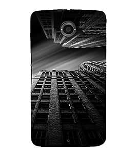 PrintVisa Building BW Design 3D Hard Polycarbonate Designer Back Case Cover for Motorola Motorola Google Nexus 6