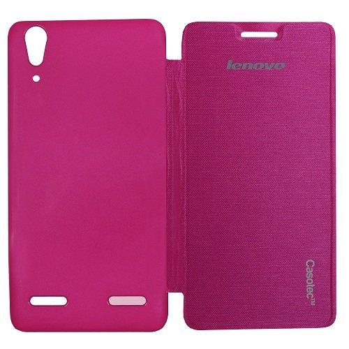 Casotec Premium Flip Case Cover for Lenovo A6000 - Pink