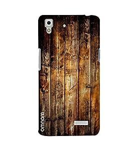 Omanm Wooden Pattern Printed Designer Back Cover Case For Oppo R7