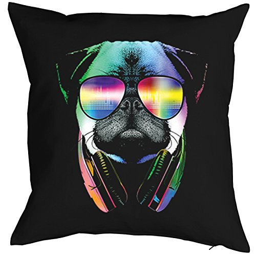 dj mops hunde print musiker neon pop art motiv. Black Bedroom Furniture Sets. Home Design Ideas