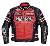 シンプソン(SIMPSON) ジャケット プレミアムモデル フェイクレザージャケット レッド 3L SJ-6139PRM