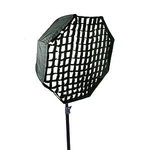 CowboyStudio Pro 30 Inch Octagon Umbrella Speedlite Softbox Brolly Reflector with Grid, 8080 Softbox+Grid