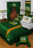 Green Bay Packers 5 Pc Queen Comforter and Sheet Set & Set of TWO (2) Valance/Drape Sets (Each Drape Set Measures 82x63) - SAVE BIG ON BUNDLING! at Amazon.com