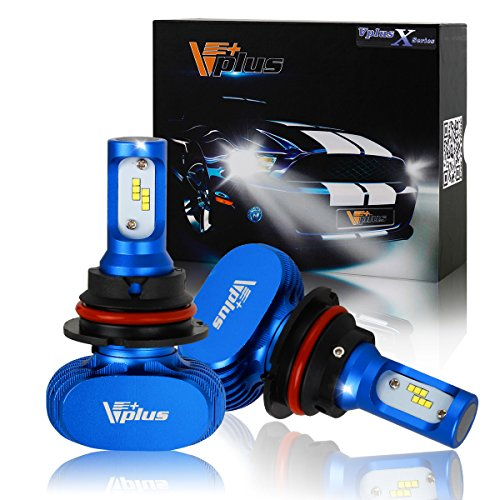 Vplus X Series LED Headlight Bulbs w/ Clear Arc-Beam Kit - 9004 HB1 72W 8,000LM 6500K White Seoul w/ No Fan All in One Headlamp LED Conversion Replace HID & Halogen - 2 Yr Warranty - (2pcs/set) (Mazda 323 Headlamps compare prices)