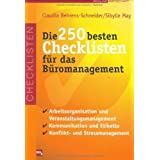 Die 250 besten Checklisten fr das Bromanagementvon &#34;Claudia Behrens-Schneider&#34;