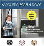 "Maye Tanco Magnetic Bugs-away Screen Door: Well Construction. 36"" X 83"" Frame =Fits Door Openings up to 34"" X 82"" Max. ""Bugs-away"" Guarantee!"