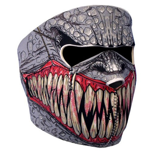 NEOPRENE SKULL FULL FACE REVERSIBLE MOTORCYCLE MASK (Fang Face)