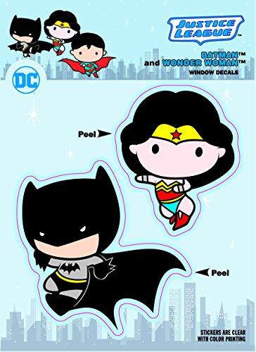 DC Comics Chibi DC Comics Chibi Justice League Batman & Wonder Woman Duo Car Window Decal at Gotham City Store