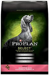 Purina Pro Plan Dry Adult Dog Food, Sensitive Skin and Stomach Formula, 33-Pound Bag