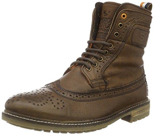 Superdry MF2005SNF3, Stivali a Collo Alto Uomo, Marrone (Brown Leather J54), 41 EU