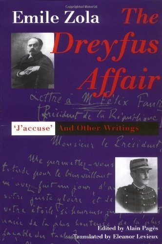The Dreyfus Affair: J`Accuse and Other Writings by Zola, Emile published by Yale University Press (1998) PDF