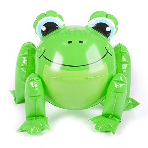 "1 ~ Frog Beach Ball Inflate ~ Approx. 12"" Before Inflation ~ New"