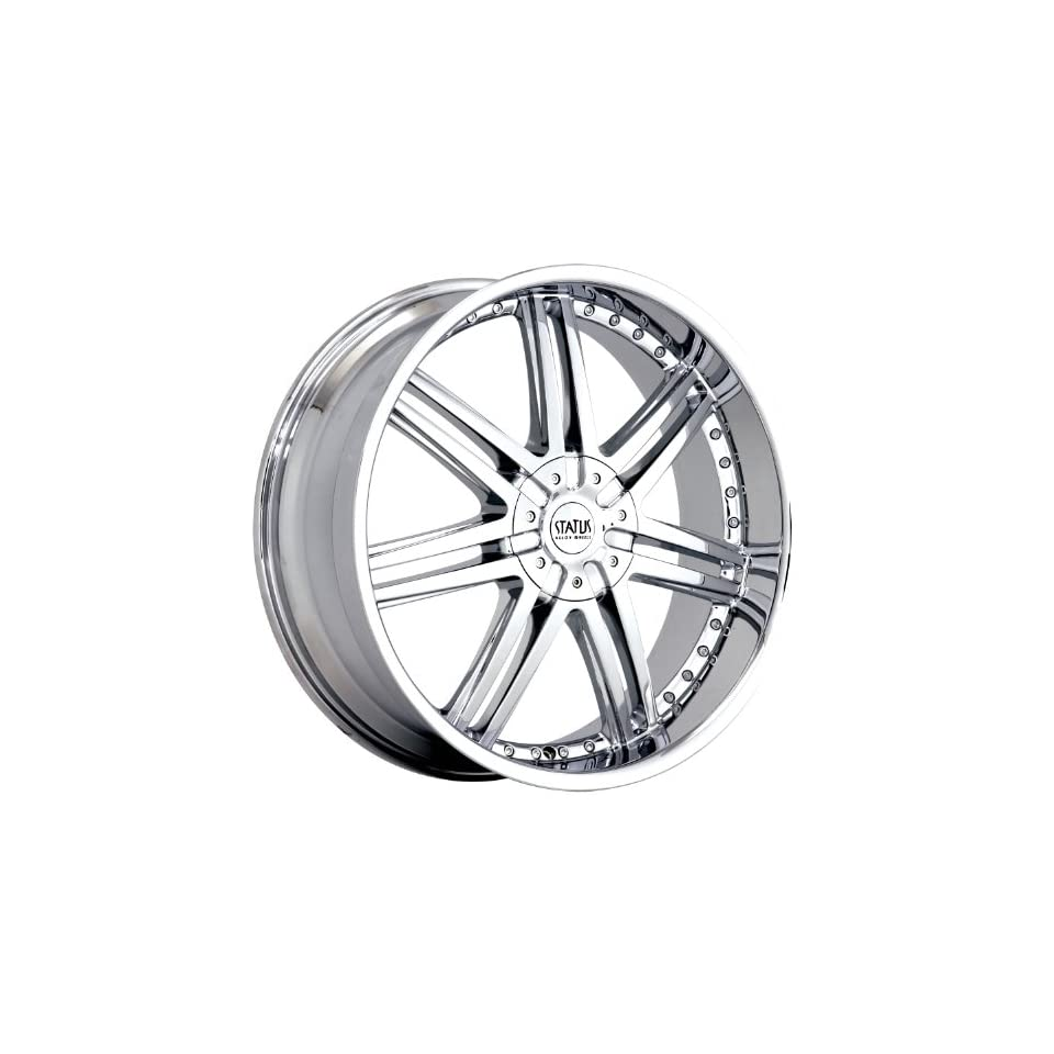 Status Game 20 Chrome Wheel / Rim 5x100 & 5x4.5 with a 35mm Offset and a 73.1 Hub Bore. Partnumber S805KJ5BF35C73