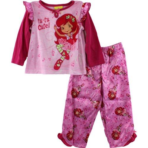 """Strawberry Shortcake """"Tu-Tu Cute!"""" Toddler Girls Pink Pajama Set Size 2T-4T (2T) front-416496"""