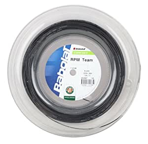 Babolat RPM Team Black Tennis String 200m Reel (1.25/17G)