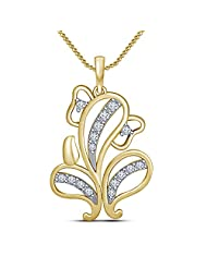 Vorra Fashion Ganesh Ganpati Hindu Lord God Bone Necklace Pendant In White Platinum Plated & 14k Gold Plated