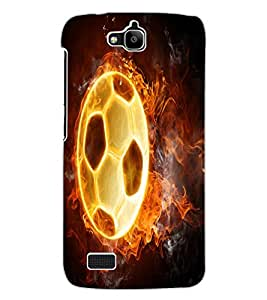 ColourCraft Flaming Football Design Back Case Cover for HUAWEI HONOR HOLLY