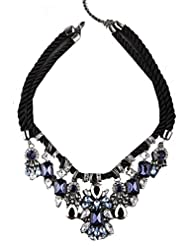 Style Fiesta Choker Necklace For Women (Blue And Black) (JN262)