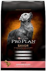 Purina Pro Plan Dry Adult Dog Food, Shredded Blend Lamb and Rice Formula, 18-Pound Bag