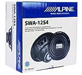 "Package: Alpine SWA-12S4 12"" 750 Watt Peak/250 Watt RMS Car Stereo Subwoofer + Rockville RSV12XL Single 12"" 1.6 cu. ft. MDF Vented Subwoofer Enclosure + Single Enclosure Wire Kit With 14 Gauge Speaker Wire + Screws + Spade Terminals"